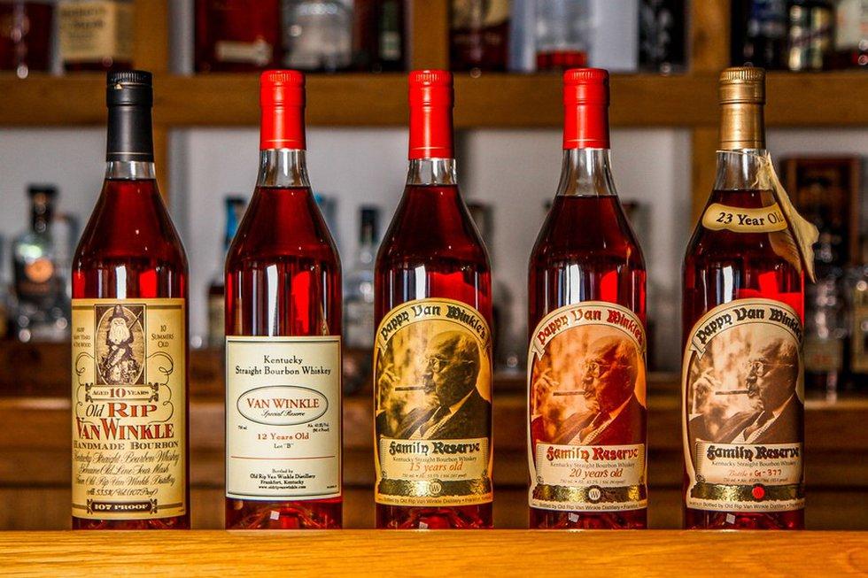 The winner will receive five bottles of Pappy Van Winkle.
