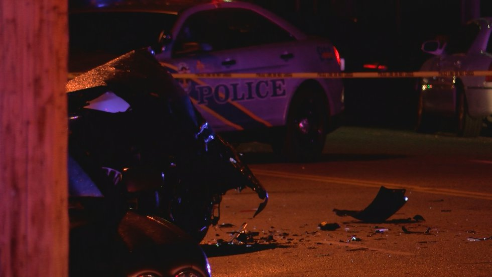 The other car involved in the crash was a white sedan, according to LMPD. That driver fled the...