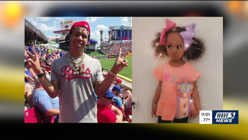 Trinity Randolph (right) and her father, Brandon Waddles, were shot dead last year.