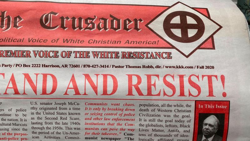 The frontpage of the newspaper left on the doorsteps of PRP homes.