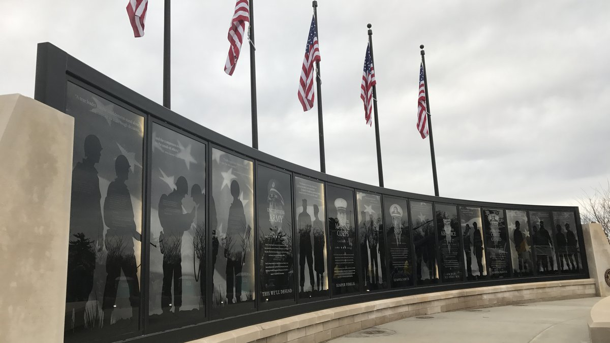 The Freedom Wall in Jeffersontown's Veterans Memorial Park.