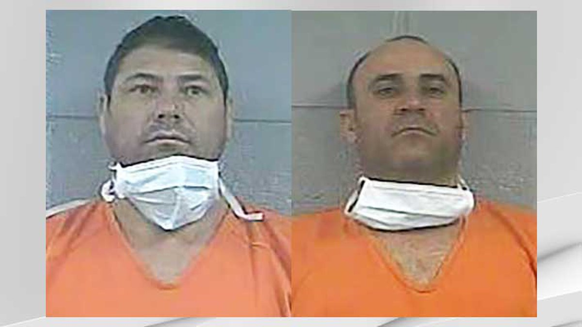 Osmany Galban Aguilera (left) and Andy Agustin Rojas Pozo are charged with using re-encoded...