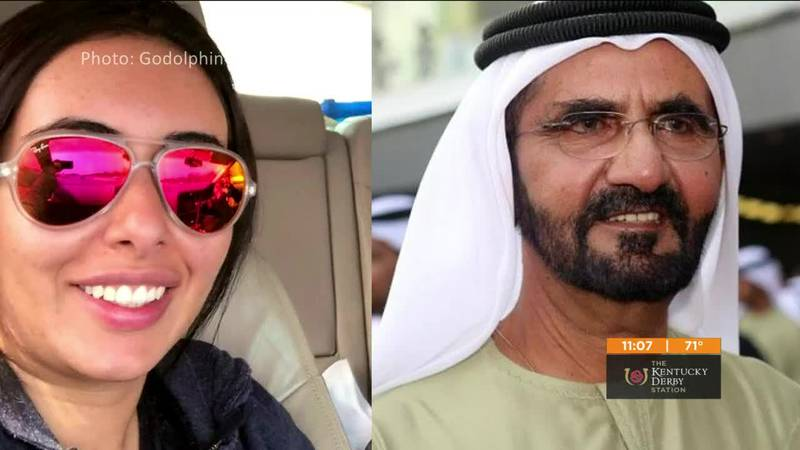 Sheikh Mohammed and daughter video still