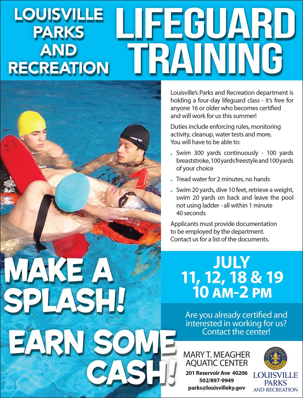 Lifeguards are needed for local pools in Louisville this summer.