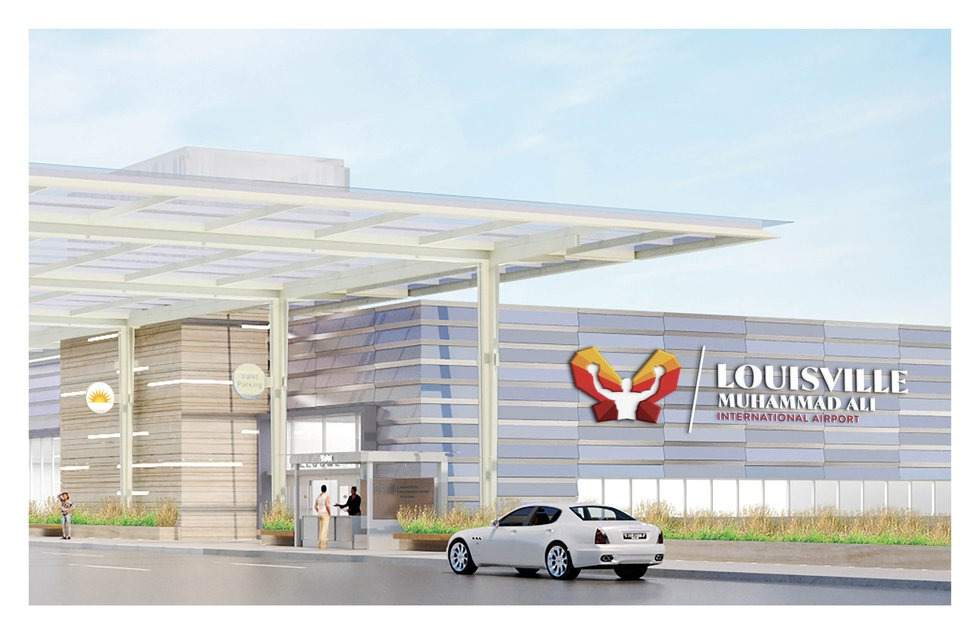 Ali's image will greet visitors, welcoming them to Louisville. (Source: Louisville Airport...