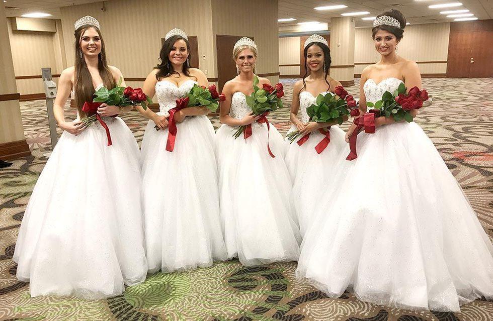 The 2018 Kentucky Derby Royal Court, from left: Caroline Will, Logan Howard, Tara Dunaway,...