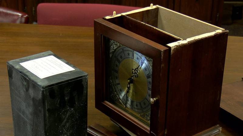 Ray Perkins told WAVE 3 News an old, broken clock was dumped in his driveway Monday evening. He...