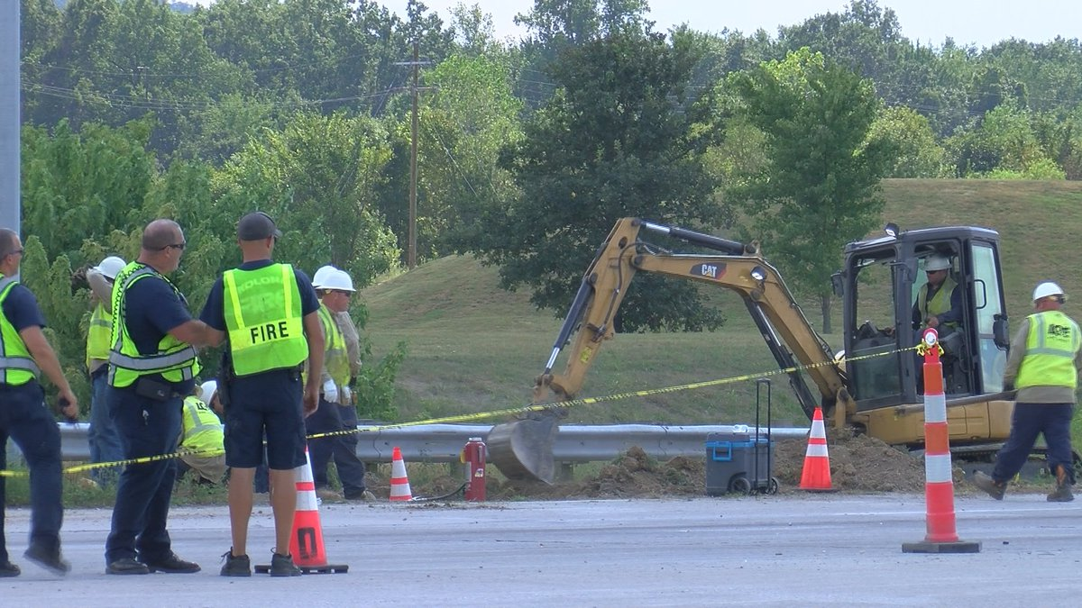 LG&E said the gas leak repair would take a few hours due to excavation.