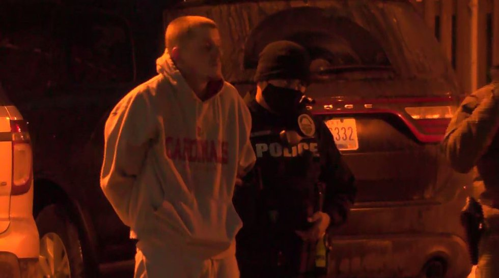 Daniel C. Allen surrendered to officers without incident following a police chase and SWAT...