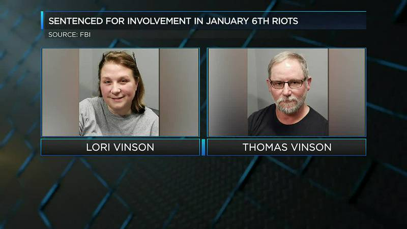 Union Co. couple sentenced for involvement in Jan. 6 Capitol riots