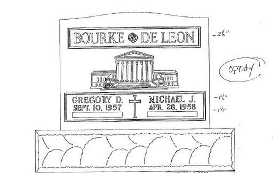 The design of the rejected tombstone (Source: Greg Bourke and Michael De Leon)