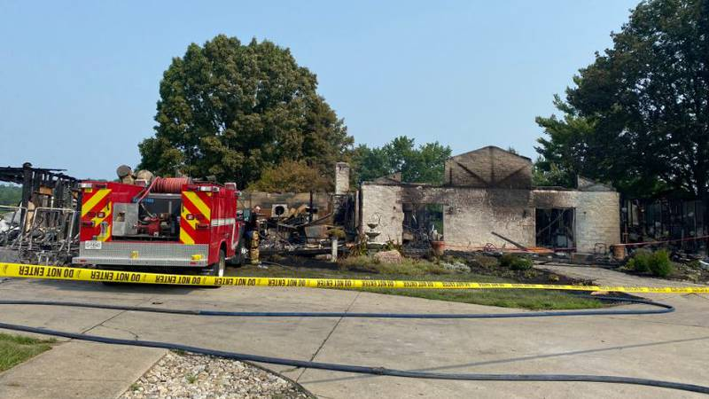 The Hills at Pendleton Hills burned to the ground and is considered a total loss, said Rob...