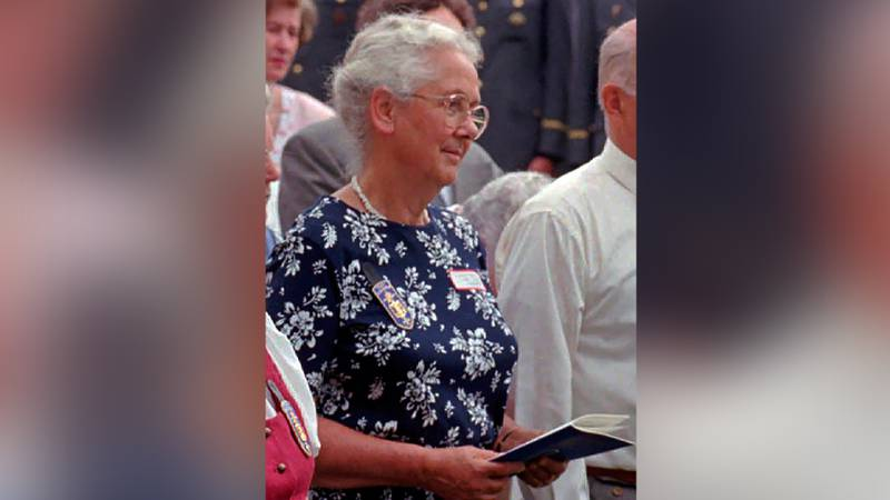 FILE — In this July 13, 1997 file photo Lorli von Trapp Campbell attends a mass honoring her...
