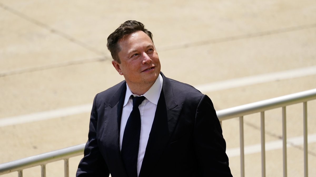 FILE - CEO Elon Musk departs from the justice center in Wilmington, Del., Tuesday, July 13,...