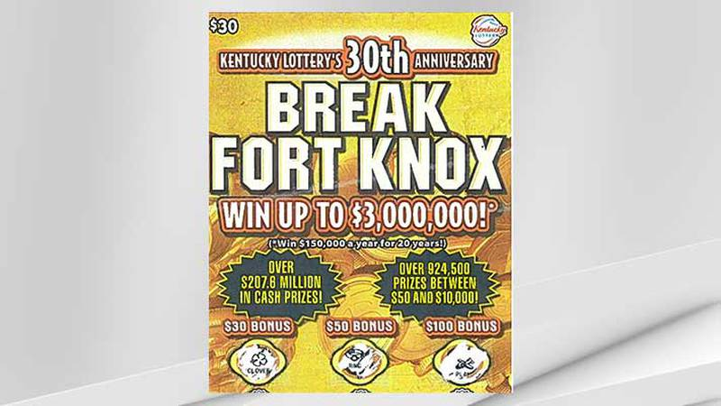 The purchase of this Kentucky Lottery ticket by a Louisville man has resulted in him being a $3...