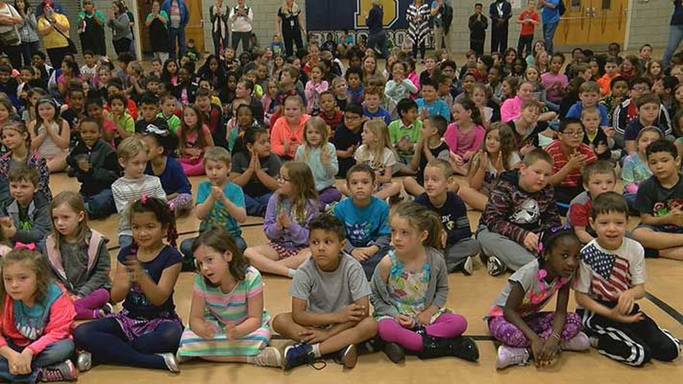 """The Bridgepoint Elementary School kindergarteners thought they were learning how to ask """"good""""..."""