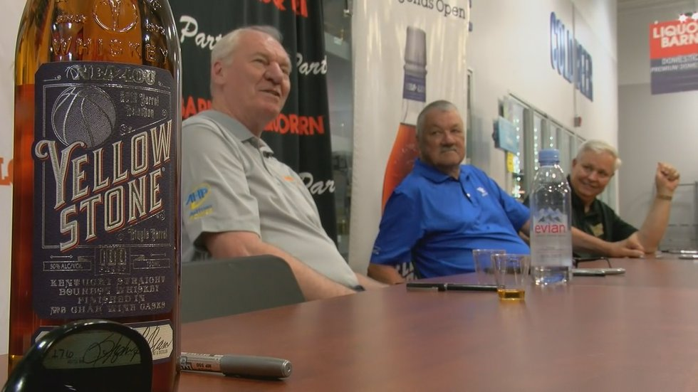NBA2LOU is headed by form UK all-star Dan Issel, who signed bottles at the event.