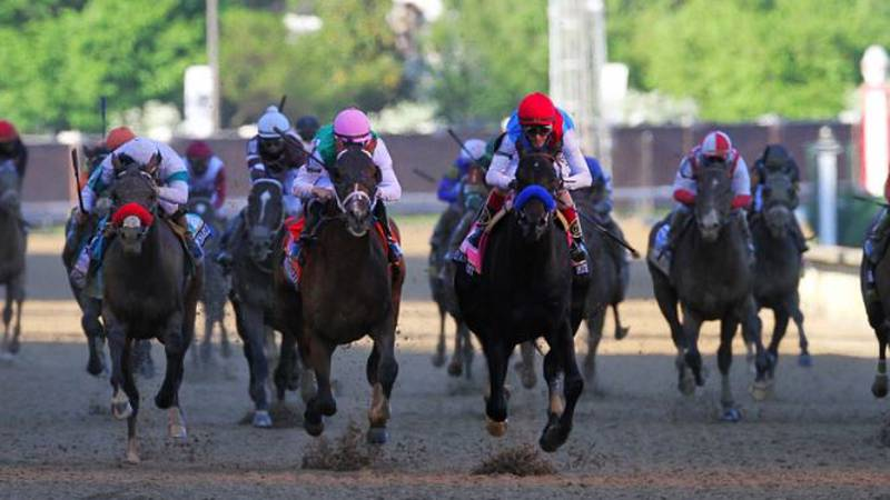 Medina Spirit races to victory in the 147th Kentucky Derby.