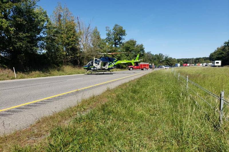 Indiana State Police is reporting a serious crash involving a motorcycle on I-65 in Jackson...