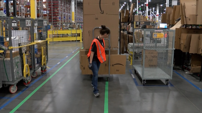 A statement from Amazon identified Kentucky and Indiana as among a dozen states where the...
