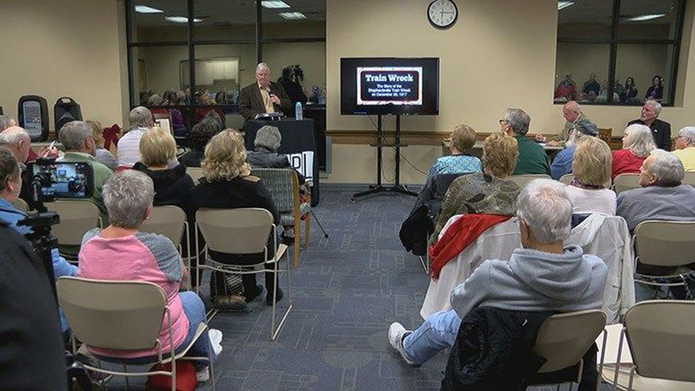 Author Charlie Hartley shared the story of the 1917 train wreck in Shepherdsville. (Source:...