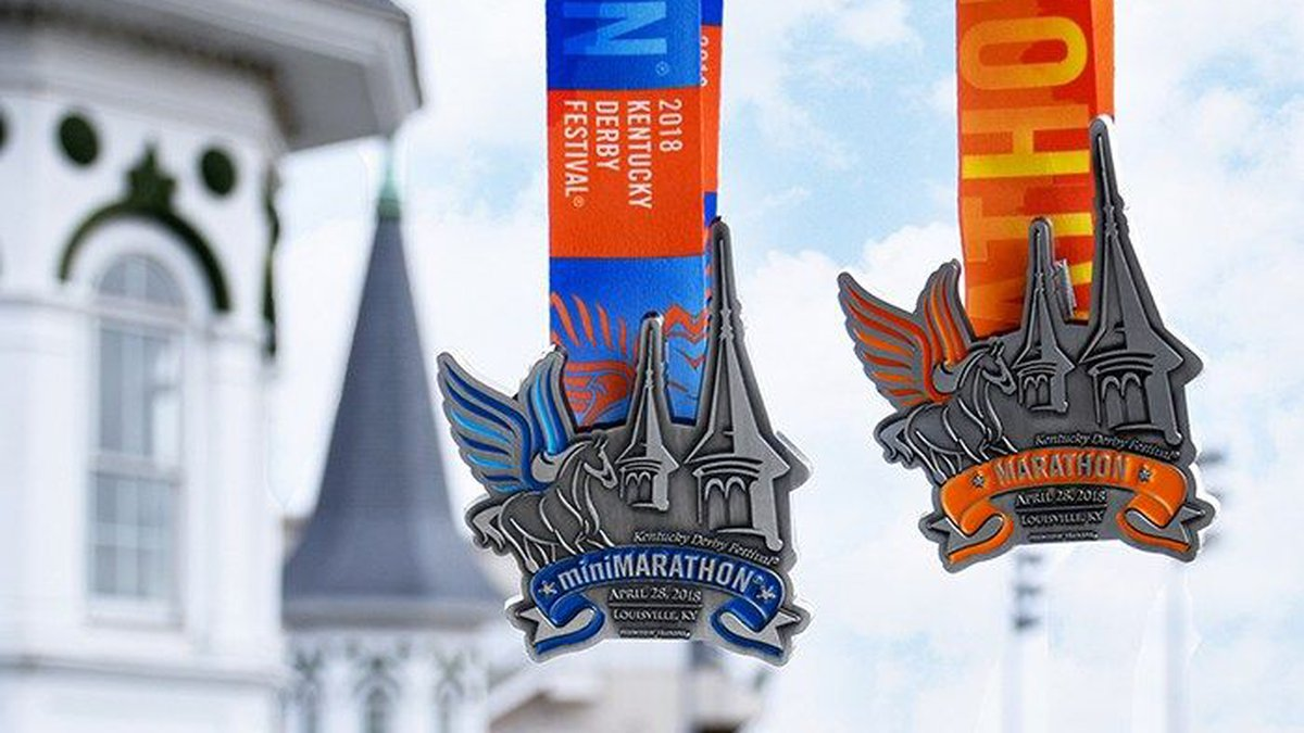This is the first year the medals have featured Churchill Downs' famous twin spires. (Source:...
