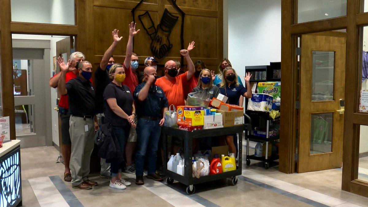 Ronald McDonald House of Kentuckiana received the donations on Monday morning at the...