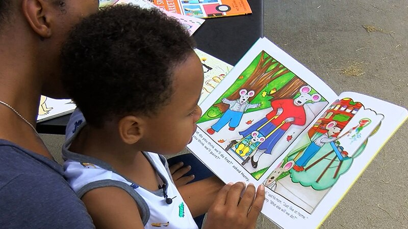 When a child is signed up for the Imagination Library, they get a book every month from birth...
