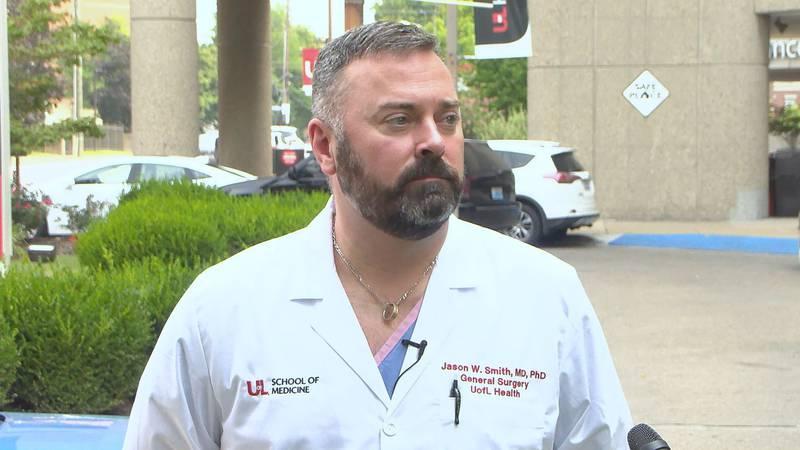 Dr. Jason Smith with UofL Health