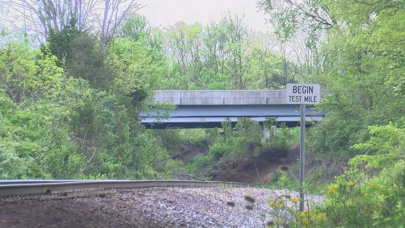 The $1.5 million bridge sits over the train tracks running through southeastern Jefferson...