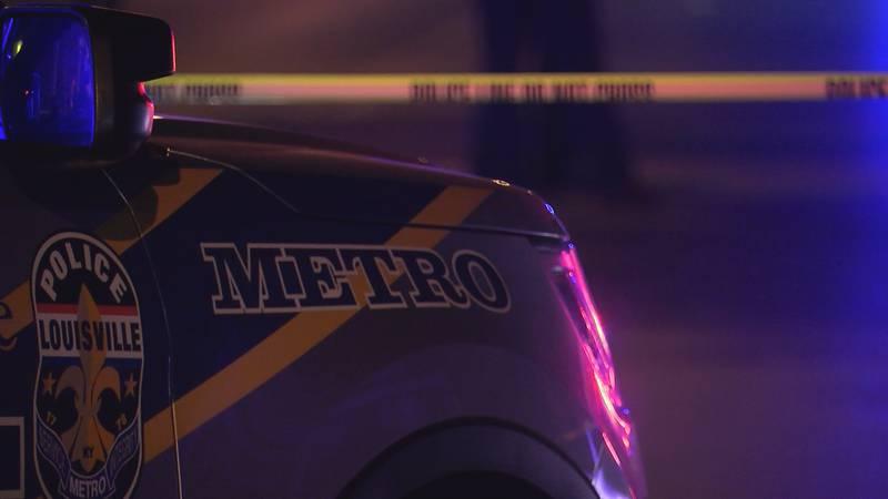 Generic crime scene photo featuring the Louisville Metro Police Department.