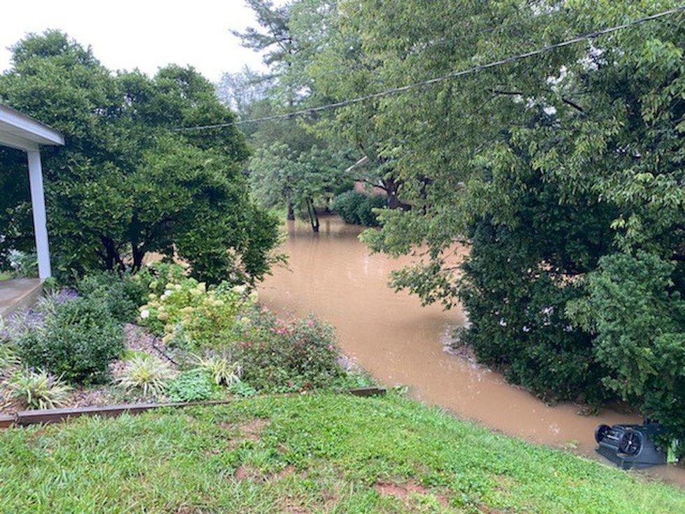 Flooding in the Bardstown, Ky. area caused by several hours of heavy rain.