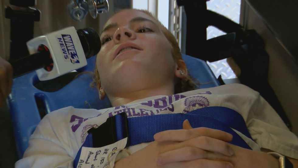 """Scottsburg Middle School student Isabella Campbell was a """"victim"""" during the Sept. 13 active..."""