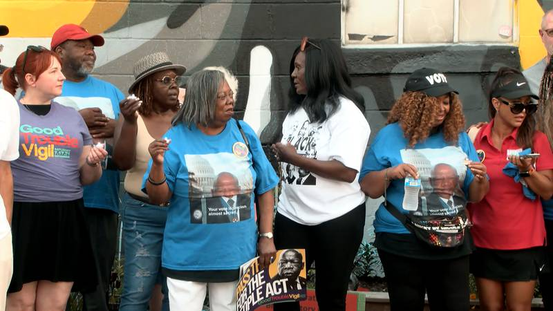 On Saturday, there were more than 100 vigils around the country to honor Representative John...