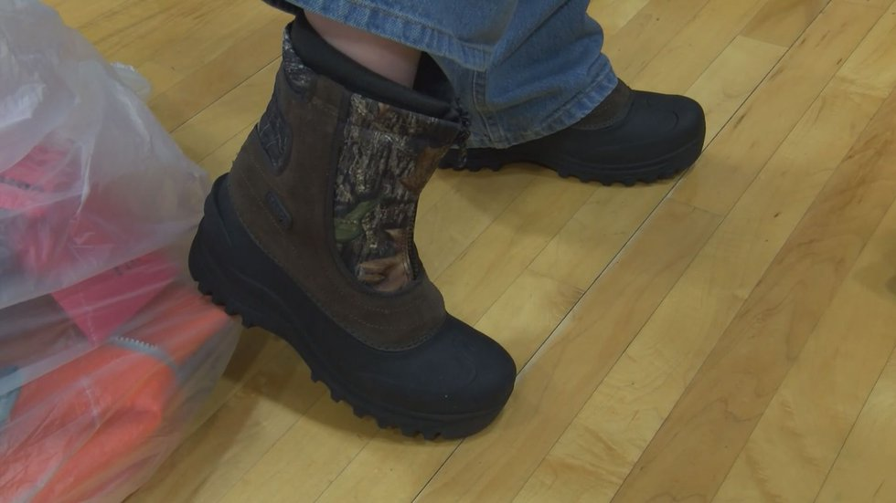 Each student received a new pair of shoes. (Source: WAVE 3 News)