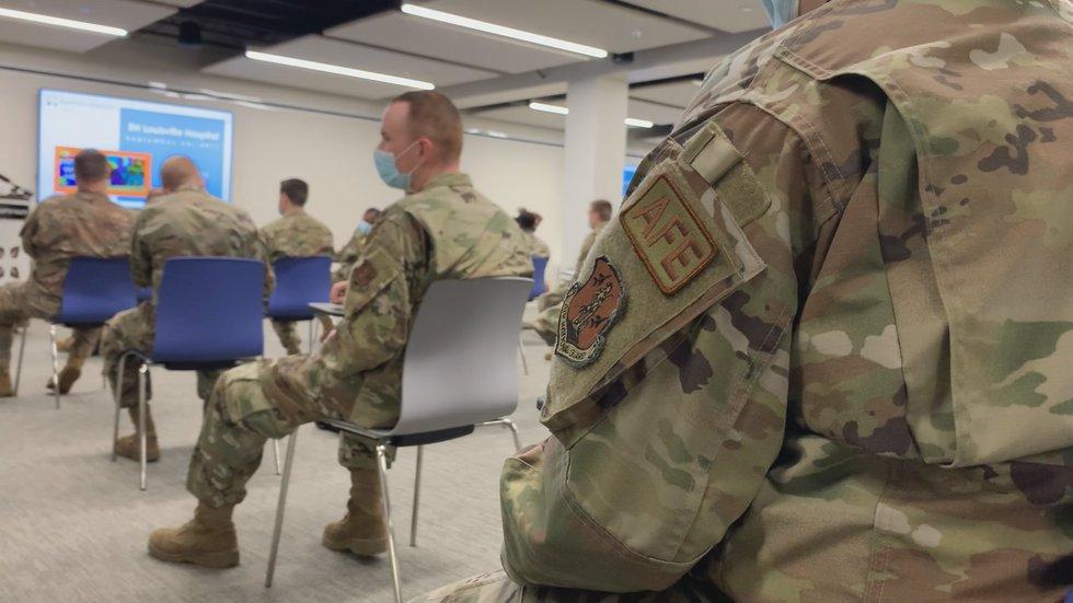 Kentucky National Guard gets to work at Louisville, Elizabethtown hospitals