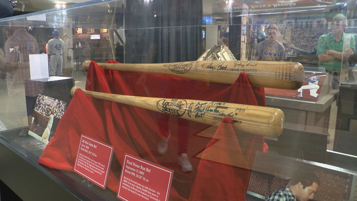 Three items from Cincinnati Reds legend and Baseball Hall of Fame member Johnny Bench are not...