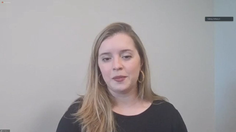 Brittany Kyzer, an audiologist with UofL Health, discussed how COVID-19 is impacting people who...