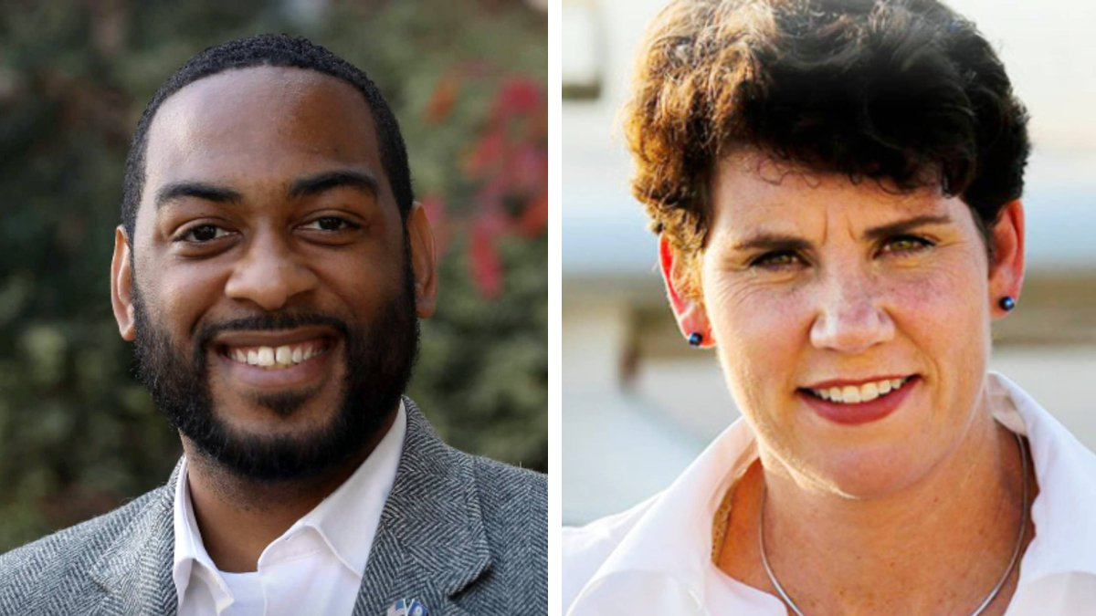 Charles Booker and Amy McGrath