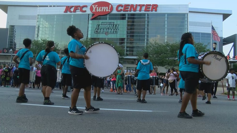 Juneteenth celebrations started at the KFC Yum! Center in downtown Louisville.