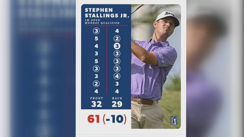St. X and UK grad Stephen Stallings, Jr. shot a 61 in PGA Tour qualifier on Monday