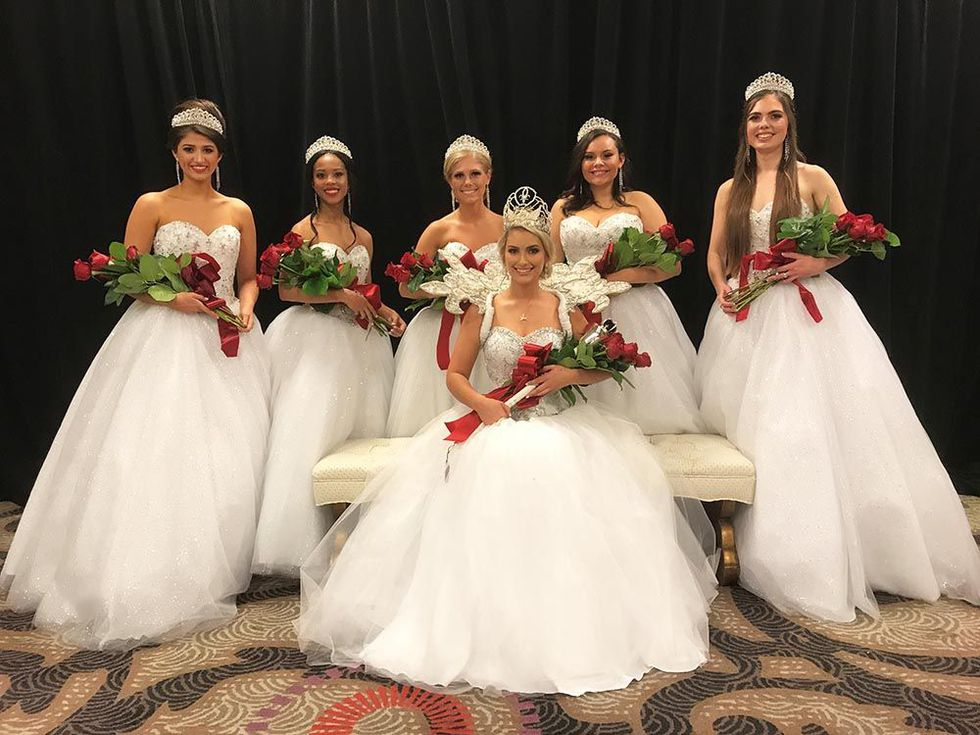 Bottom center: The outgoing 2017 Derby Queen, Natalie Brown; and the 2018 Kentucky Derby...