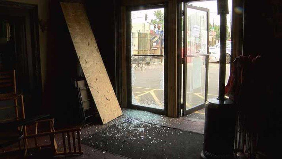 The suspect broke glass in a front door to gain entry. (Source: Dale Mader, WAVE 3 News)