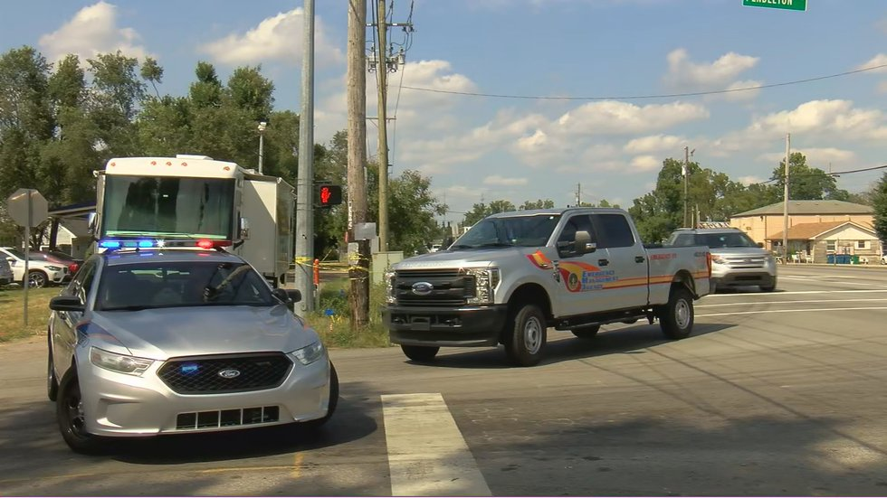 LMPD set up a staging area at Pendleton Road and Dixie Highway, closing the road to traffic.