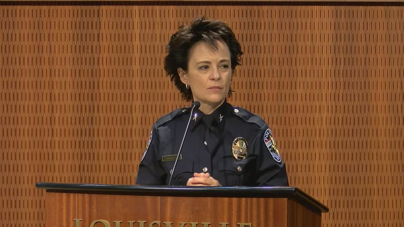 Erika Shields was sworn in as chief of the Louisville Metro Police Department on January 19,...
