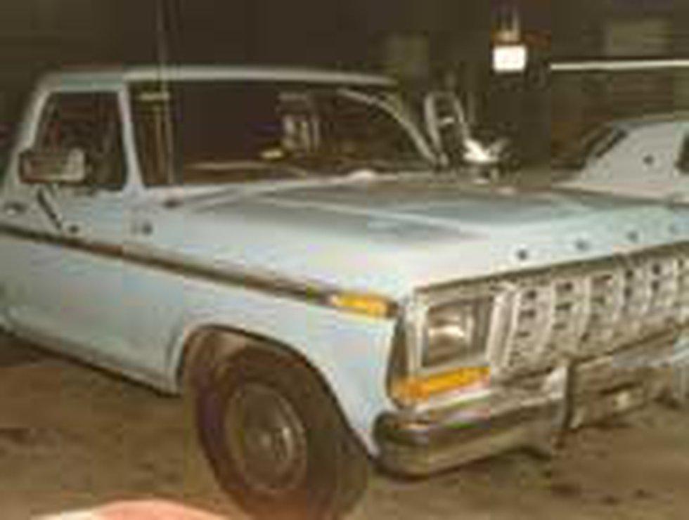 Oakley's 1970 Ford pickup (Photo courtesy: Louisville Metro Police)