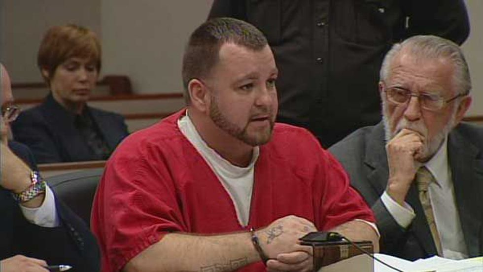 Josh Gouker during his plea hearing on May 10, 2013.