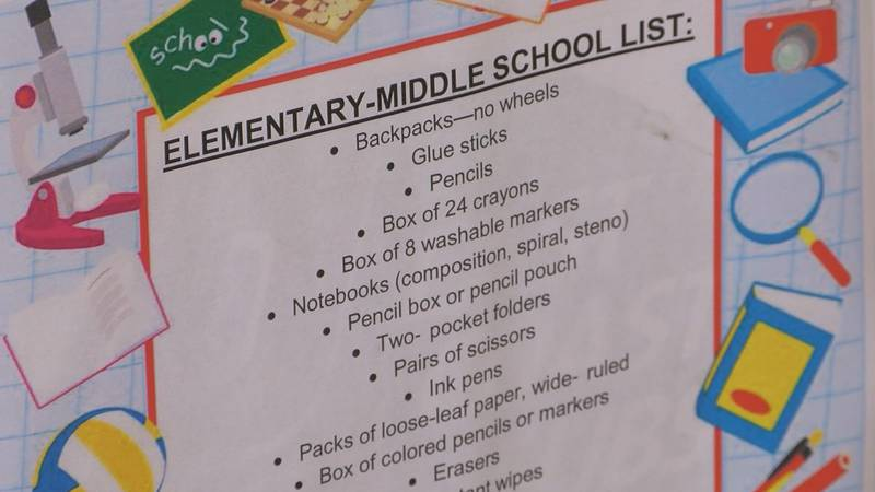Some of the items they are asking for are pencils, backpacks and notebooks. (Source: WAVE 3 News)