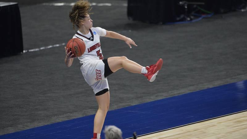 SAN ANTONIO, TX - MARCH 24: Northwestern vs Louisville during the Division I WomenÕs Basketball...
