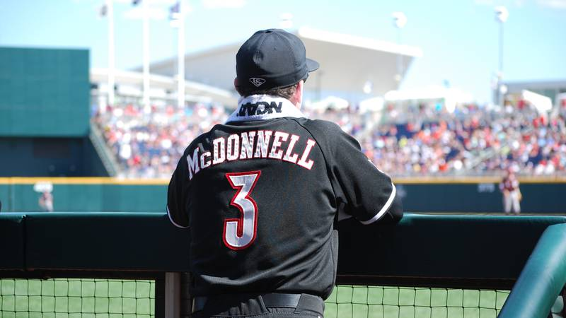 Dan McDonnell at the 2017 College World Series (Source: Annie Moore/WAVE 3 News)